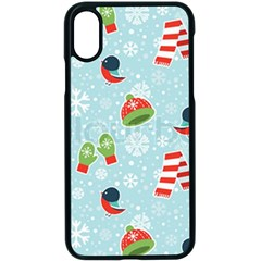 Winter Fun Pattern Apple Iphone X Seamless Case (black) by allthingseveryone