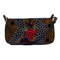 Aboriginal Art   Waterholes Shoulder Clutch Bags