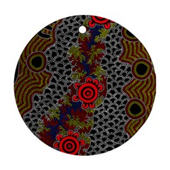 Aboriginal Art   Meeting Places Ornament (round)