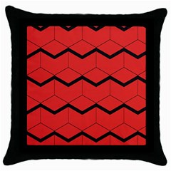 Red Box Pattern Throw Pillow Case (black)