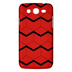 Red Box Pattern Samsung Galaxy Mega 5 8 I9152 Hardshell Case  by berwies