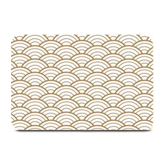 Art Deco,japanese Fan Pattern, Gold,white,vintage,chic,elegant,beautiful,shell Pattern, Modern,trendy Plate Mats