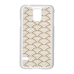 Art Deco,japanese Fan Pattern, Gold,white,vintage,chic,elegant,beautiful,shell Pattern, Modern,trendy Samsung Galaxy S5 Case (white)