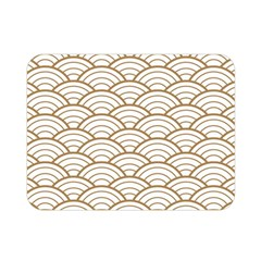 Art Deco,japanese Fan Pattern, Gold,white,vintage,chic,elegant,beautiful,shell Pattern, Modern,trendy Double Sided Flano Blanket (mini)  by 8fugoso