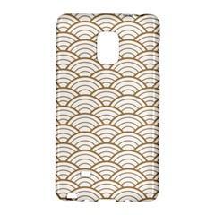 Art Deco,japanese Fan Pattern, Gold,white,vintage,chic,elegant,beautiful,shell Pattern, Modern,trendy Galaxy Note Edge by 8fugoso