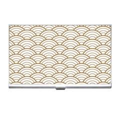 Art Deco,japanese Fan Pattern, Gold,white,vintage,chic,elegant,beautiful,shell Pattern, Modern,trendy Business Card Holders by 8fugoso