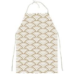 Art Deco,japanese Fan Pattern, Gold,white,vintage,chic,elegant,beautiful,shell Pattern, Modern,trendy Full Print Aprons by 8fugoso