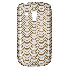 Art Deco,japanese Fan Pattern, Gold,white,vintage,chic,elegant,beautiful,shell Pattern, Modern,trendy Galaxy S3 Mini by 8fugoso