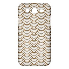 Art Deco,japanese Fan Pattern, Gold,white,vintage,chic,elegant,beautiful,shell Pattern, Modern,trendy Samsung Galaxy Mega 5 8 I9152 Hardshell Case  by 8fugoso