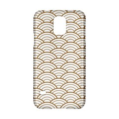 Art Deco,japanese Fan Pattern, Gold,white,vintage,chic,elegant,beautiful,shell Pattern, Modern,trendy Samsung Galaxy S5 Hardshell Case  by 8fugoso