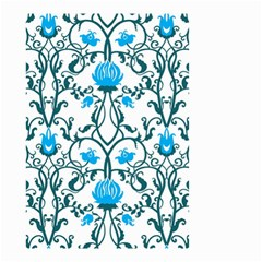 Art Nouveau, Art Deco, Floral,vintage,blue,green,white,beautiful,elegant,chic,modern,trendy,belle Époque Small Garden Flag (two Sides) by 8fugoso