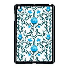Art Nouveau, Art Deco, Floral,vintage,blue,green,white,beautiful,elegant,chic,modern,trendy,belle Époque Apple Ipad Mini Case (black) by 8fugoso