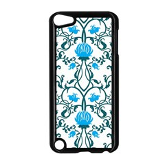 Art Nouveau, Art Deco, Floral,vintage,blue,green,white,beautiful,elegant,chic,modern,trendy,belle ¨|poque Apple Ipod Touch 5 Case (black)