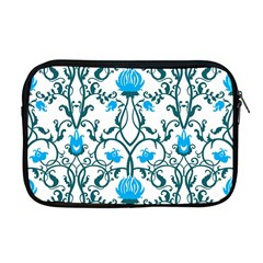 Art Nouveau, Art Deco, Floral,vintage,blue,green,white,beautiful,elegant,chic,modern,trendy,belle Époque Apple Macbook Pro 17  Zipper Case