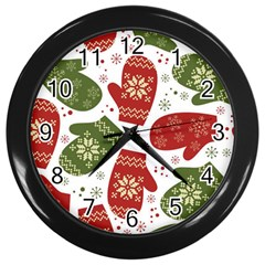 Winter Snow Mittens Wall Clocks (black) by AllThingsEveryone