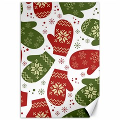 Winter Snow Mittens Canvas 12  X 18   by AllThingsEveryone