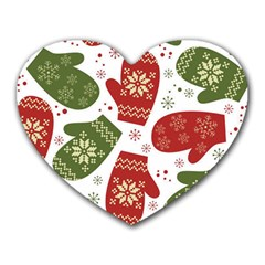 Winter Snow Mittens Heart Mousepads by allthingseveryone