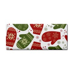 Winter Snow Mittens Cosmetic Storage Cases by allthingseveryone