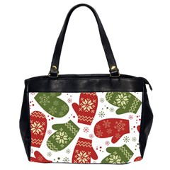 Winter Snow Mittens Office Handbags (2 Sides)  by allthingseveryone