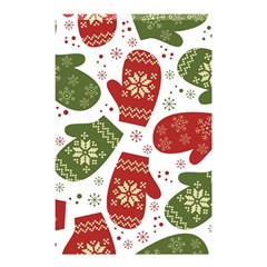 Winter Snow Mittens Shower Curtain 48  X 72  (small)  by allthingseveryone