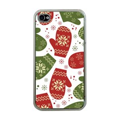 Winter Snow Mittens Apple Iphone 4 Case (clear) by allthingseveryone