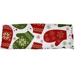 Winter Snow Mittens Body Pillow Case (dakimakura) by allthingseveryone