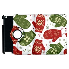 Winter Snow Mittens Apple Ipad 3/4 Flip 360 Case by allthingseveryone