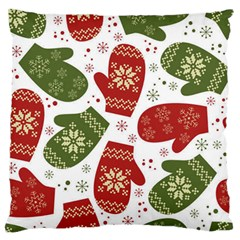 Winter Snow Mittens Standard Flano Cushion Case (two Sides) by allthingseveryone