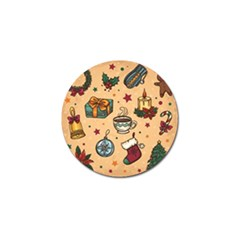 Cute Vintage Christmas Pattern Golf Ball Marker by AllThingsEveryone