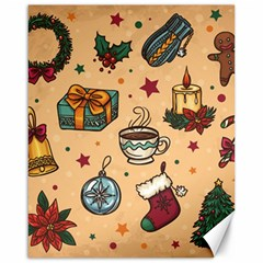 Cute Vintage Christmas Pattern Canvas 16  X 20   by AllThingsEveryone
