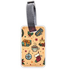 Cute Vintage Christmas Pattern Luggage Tags (two Sides) by AllThingsEveryone