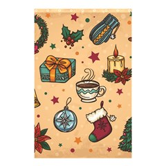 Cute Vintage Christmas Pattern Shower Curtain 48  X 72  (small)  by AllThingsEveryone