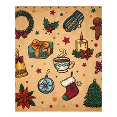 Cute Vintage Christmas Pattern Shower Curtain 60  X 72  (medium)  by allthingseveryone