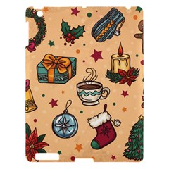 Cute Vintage Christmas Pattern Apple Ipad 3/4 Hardshell Case by allthingseveryone