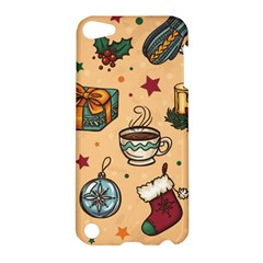 Cute Vintage Christmas Pattern Apple Ipod Touch 5 Hardshell Case by allthingseveryone