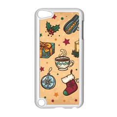 Cute Vintage Christmas Pattern Apple Ipod Touch 5 Case (white) by AllThingsEveryone