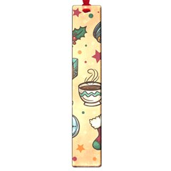 Cute Vintage Christmas Pattern Large Book Marks by AllThingsEveryone