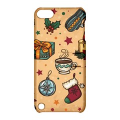 Cute Vintage Christmas Pattern Apple Ipod Touch 5 Hardshell Case With Stand by allthingseveryone
