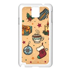Cute Vintage Christmas Pattern Samsung Galaxy Note 3 N9005 Case (white) by allthingseveryone