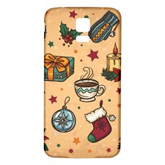 Cute Vintage Christmas Pattern Samsung Galaxy S5 Back Case (white) by allthingseveryone