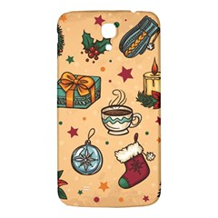 Cute Vintage Christmas Pattern Samsung Galaxy Mega I9200 Hardshell Back Case by allthingseveryone