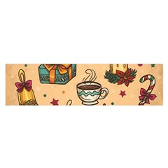 Cute Vintage Christmas Pattern Satin Scarf (oblong) by allthingseveryone