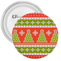 Christmas Tree Ugly Sweater Pattern 3  Buttons by AllThingsEveryone