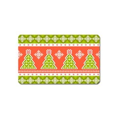 Christmas Tree Ugly Sweater Pattern Magnet (name Card) by allthingseveryone