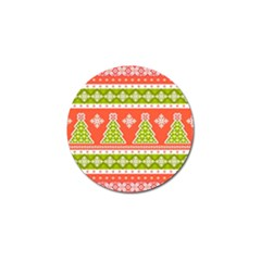 Christmas Tree Ugly Sweater Pattern Golf Ball Marker by AllThingsEveryone