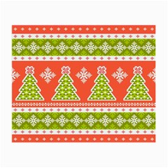 Christmas Tree Ugly Sweater Pattern Small Glasses Cloth by allthingseveryone