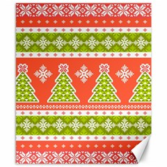 Christmas Tree Ugly Sweater Pattern Canvas 8  X 10  by allthingseveryone