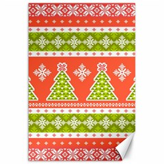 Christmas Tree Ugly Sweater Pattern Canvas 20  X 30   by AllThingsEveryone
