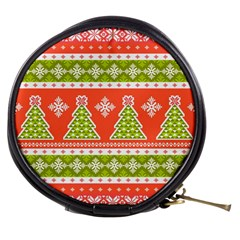 Christmas Tree Ugly Sweater Pattern Mini Makeup Bags by allthingseveryone