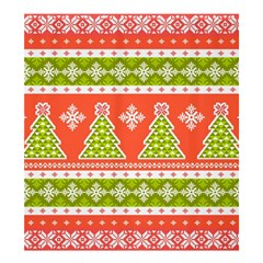 Christmas Tree Ugly Sweater Pattern Shower Curtain 66  X 72  (large)  by allthingseveryone